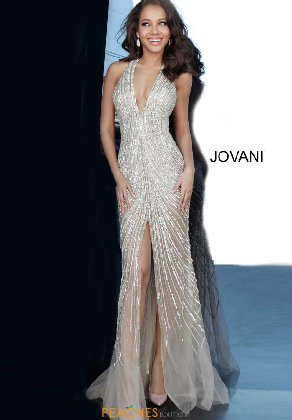 Jovani V-Neck Sequins Dress 2609