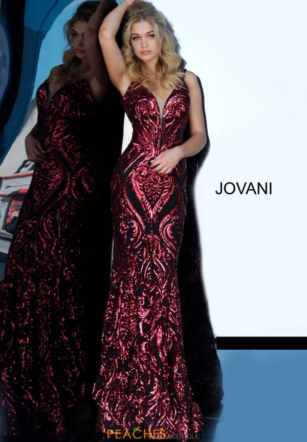 Jovani Open Back Fitted Dress 2669