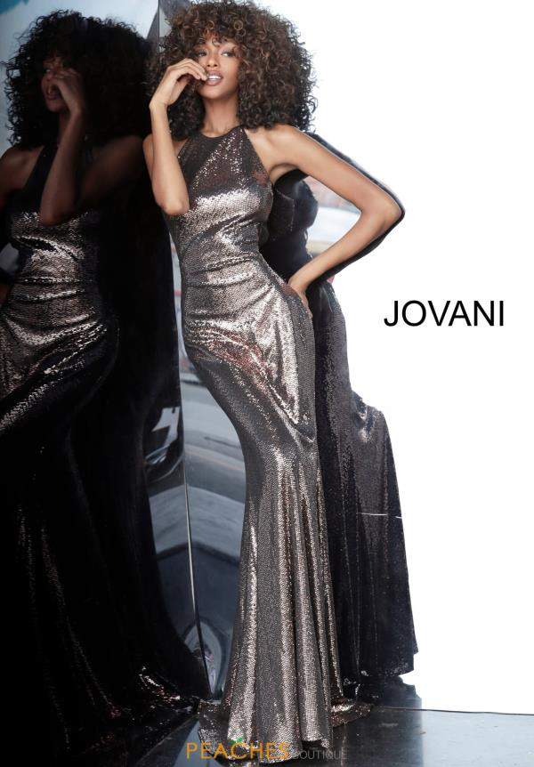 Jovani Fully Beaded Halter Dress 2812