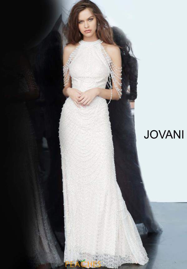 Jovani Off the Shoulder Beaded Dress 3363