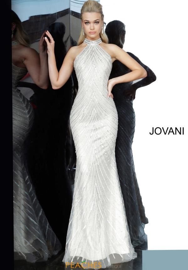 Jovani High Neckline Beaded Dress 3833