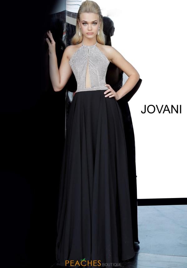 Jovani High Neckline Chiffon Dress 4201