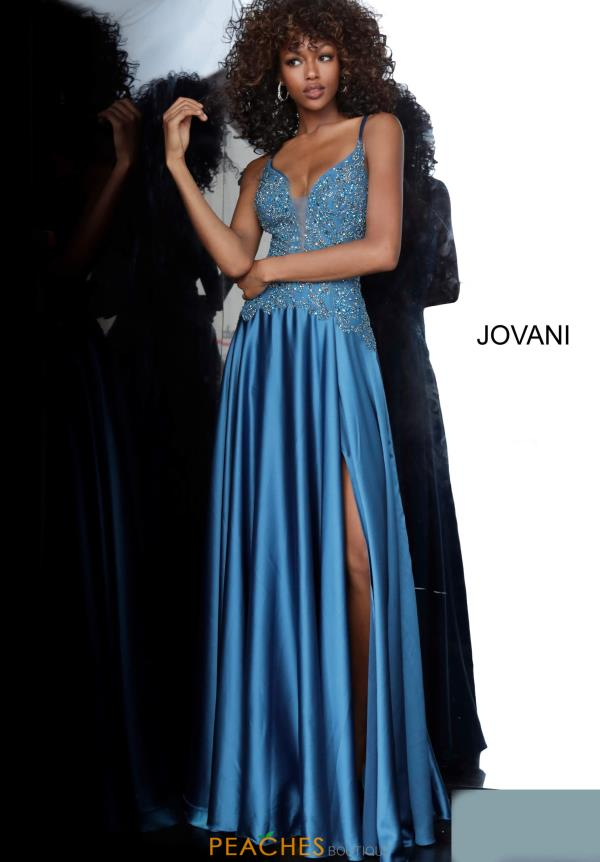 Jovani V-Neck Satin Dress 4287