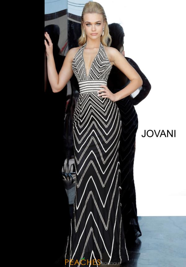 Jovani V-Neck Beaded Dress 4341