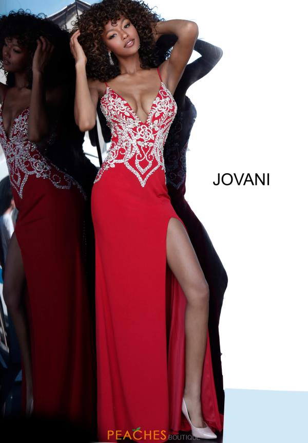 Jovani Beaded Fitted Dress 54927