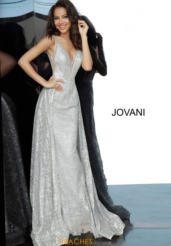 Jovani Full Figured Beaded Dress 62515