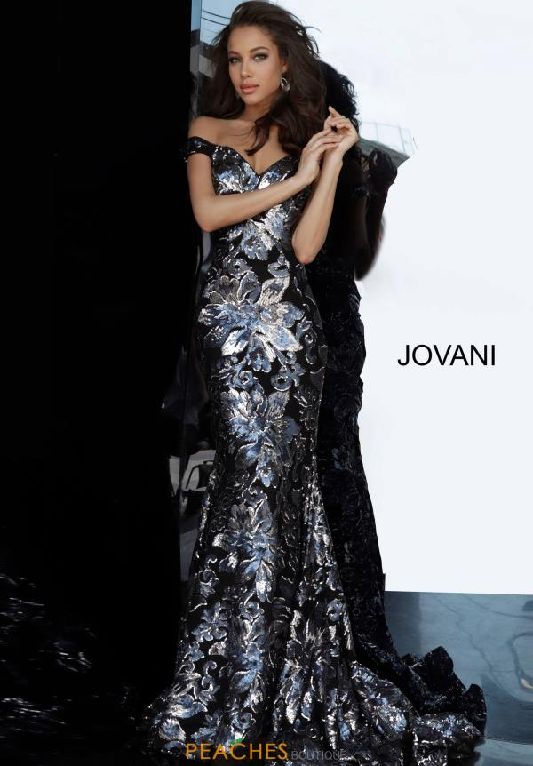 Jovani Cap Sleeve Sequins Dress 63516