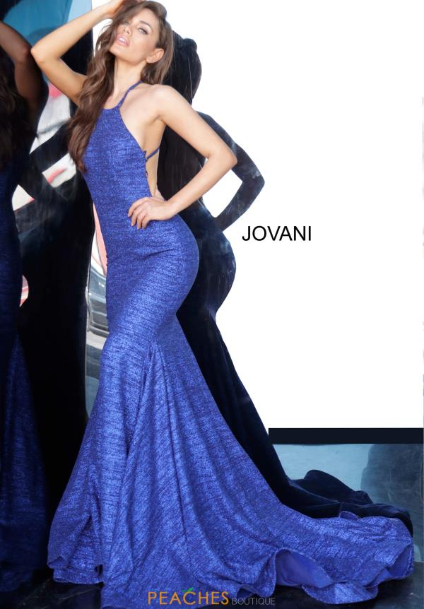 Jovani High Neckline Fitted Dress 65416