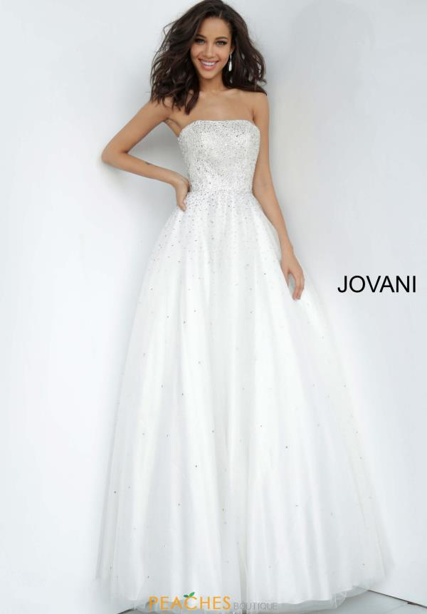 Jovani Strapless Tulle Dress 65664