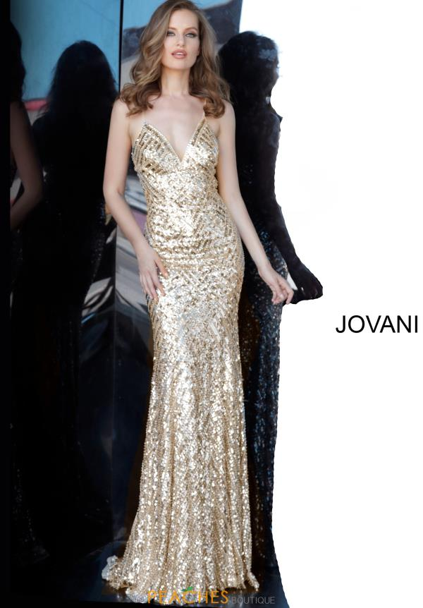 Jovani Fully Beaded Fitted Dress 65836