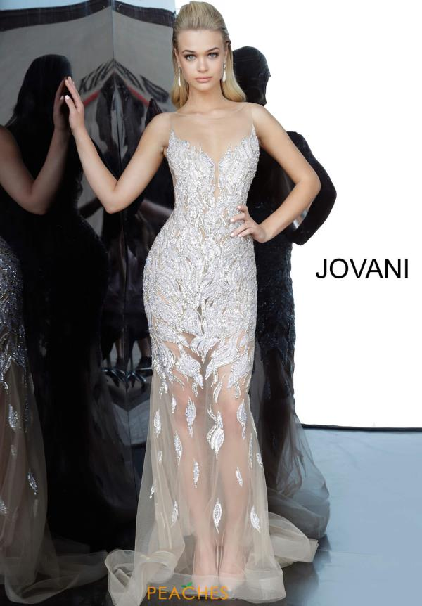 Jovani High Neckline Beaded Dress 67786