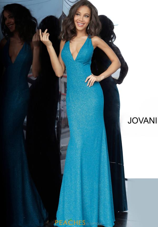 Jovani Glitter Fitted Dress 67866