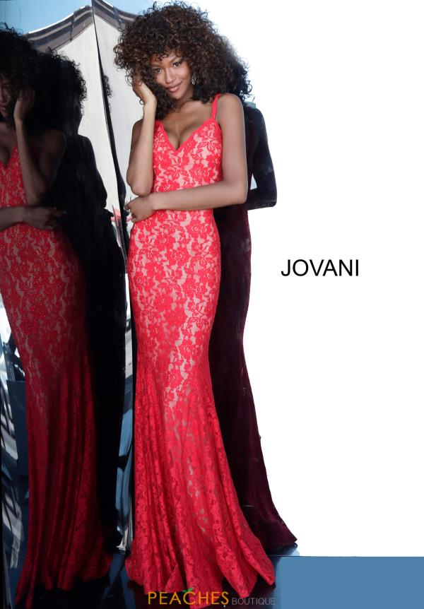Jovani V-Neck Mermaid Dress 68005