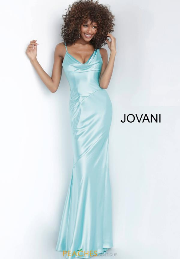 Jovani Scoop Satin Dress 68506
