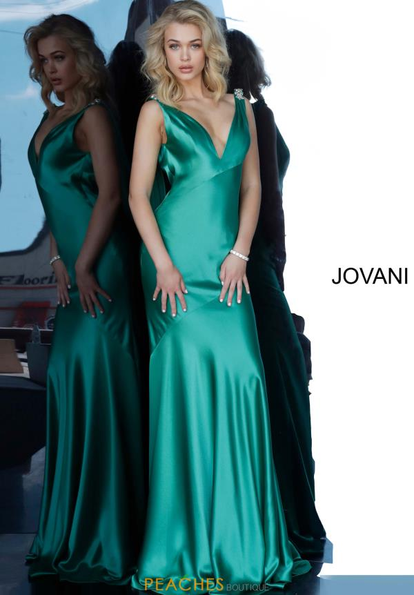 Jovani Fitted Satin Dress 68528