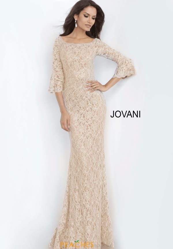 Jovani Long Sleeve Lace Dress 68810