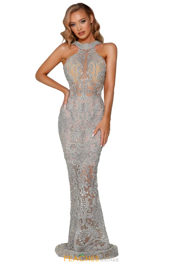 Portia and Scarlett Long FItted Dress PS4001C