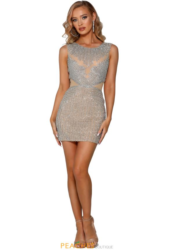 Portia and Scarlett Short Beaded Dress PS4021C