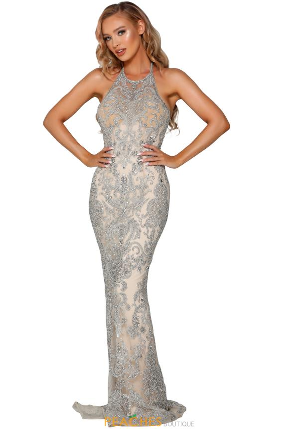 Portia and Scarlett Long Beaded Dress PS4084C