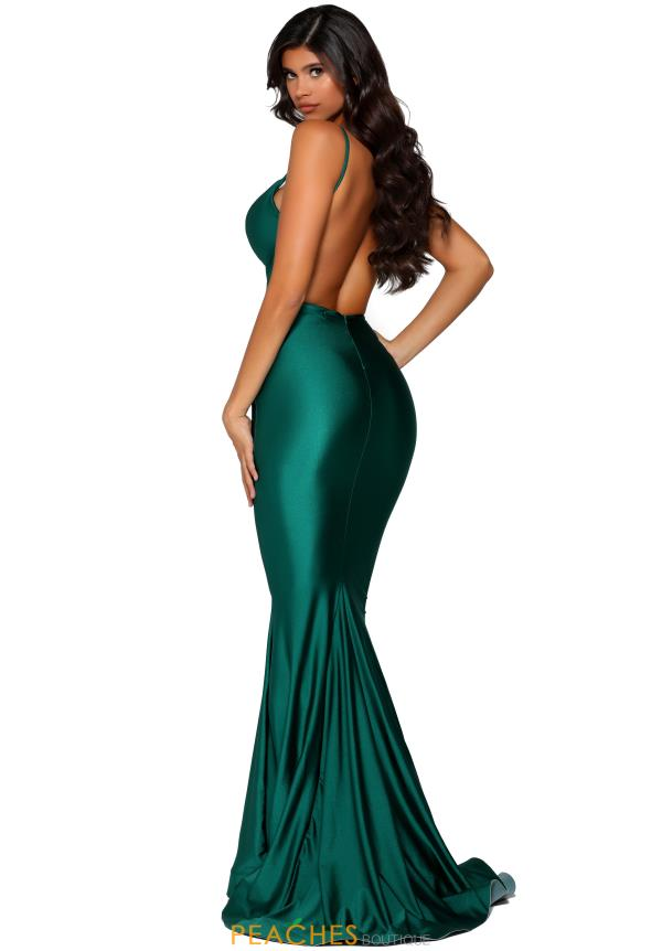 Portia and Scarlett Fitted Long Dress PS5029