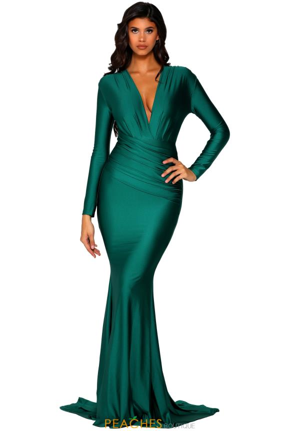 Portia and Scarlett Long Sleeve Fitted Dress PS5030