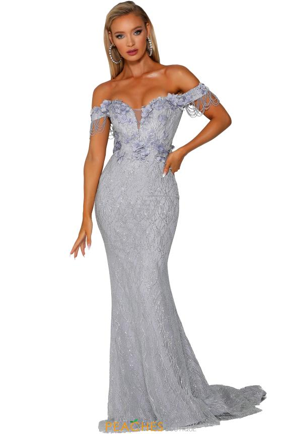 Portia and Scarlett Long Off The Shoulder Dress PS6001