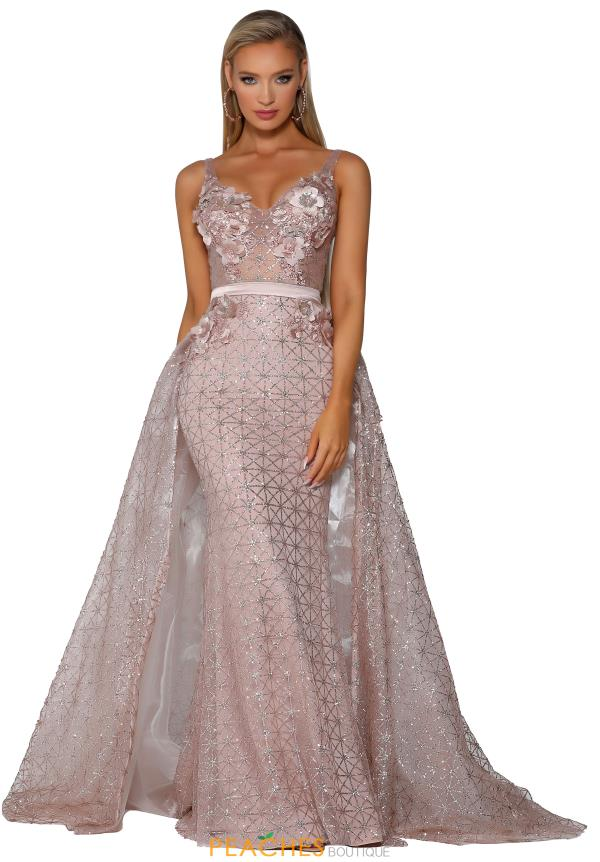 Portia and Scarlett Long Beaded Dress PS6008S