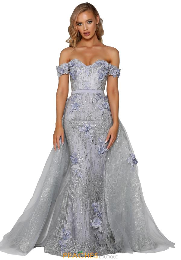 Portia and Scarlett Long Beaded Prom Dress PS6015S