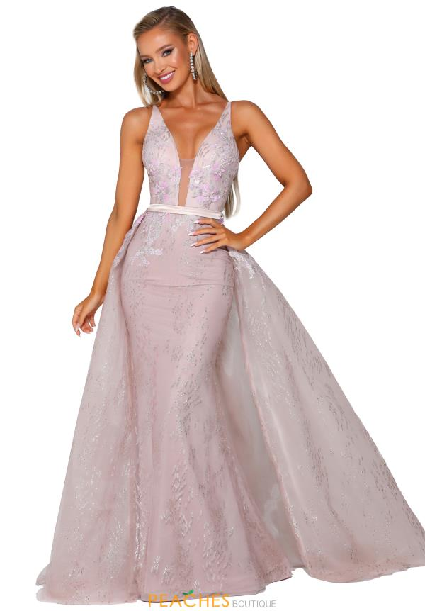 Portia and Scarlett Long Beaded Prom Dress PS6019S