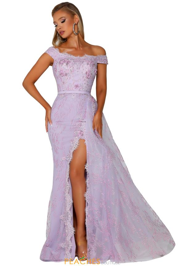Portia and Scarlett Lace Slit Prom Dress PS6020