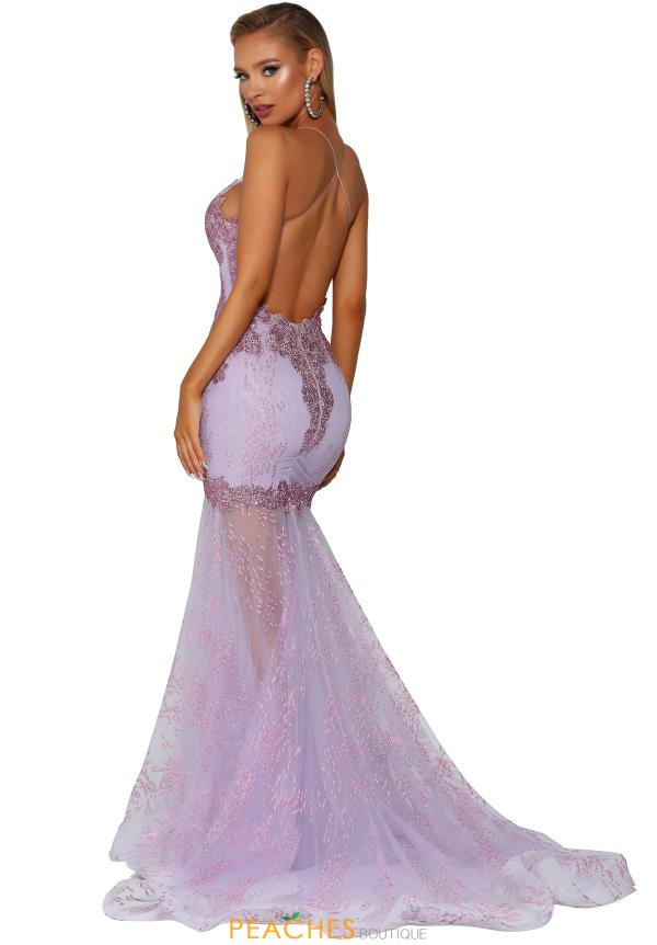 Portia and Scarlett Long Fitted Prom Dress PS6021