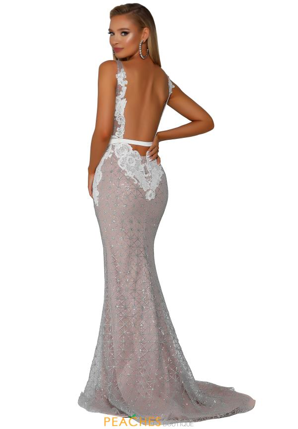 Portia and Scarlett Long FItted Prom Dress PS6026