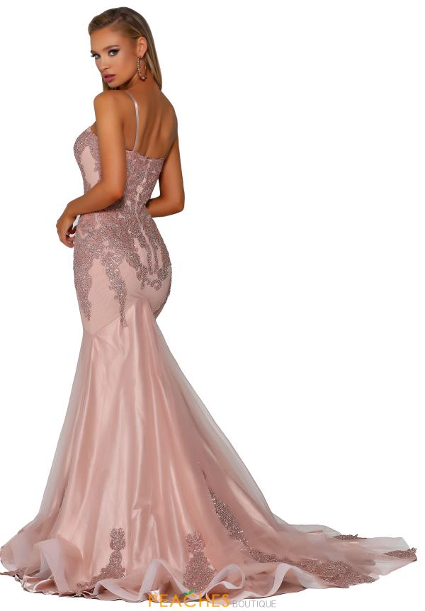 Portia and Scarlett Beaded Mermaid Prom Dress PS6068