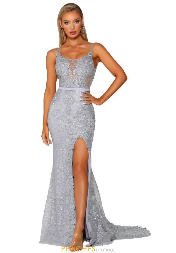 Portia and Scarlett Long FItted  Prom Dress PS6069