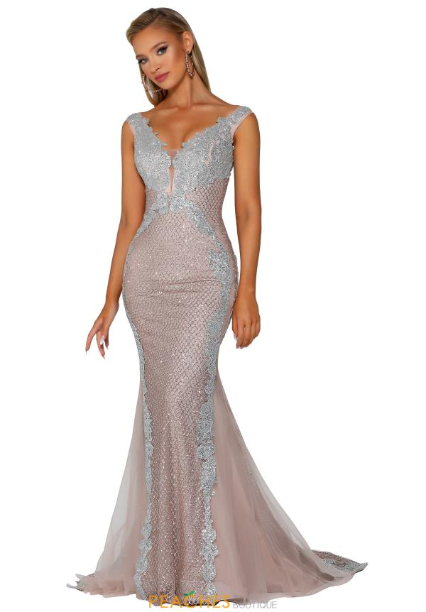 Portia and Scarlett Long Fitted Prom Dress PS6075