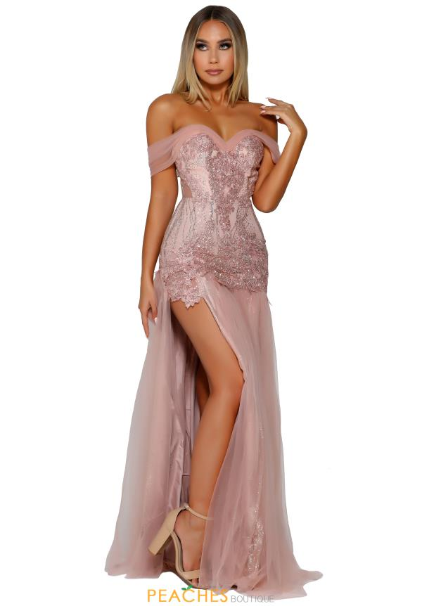 Portia and Scarlett Long Beaaded Prom Dress PS6079