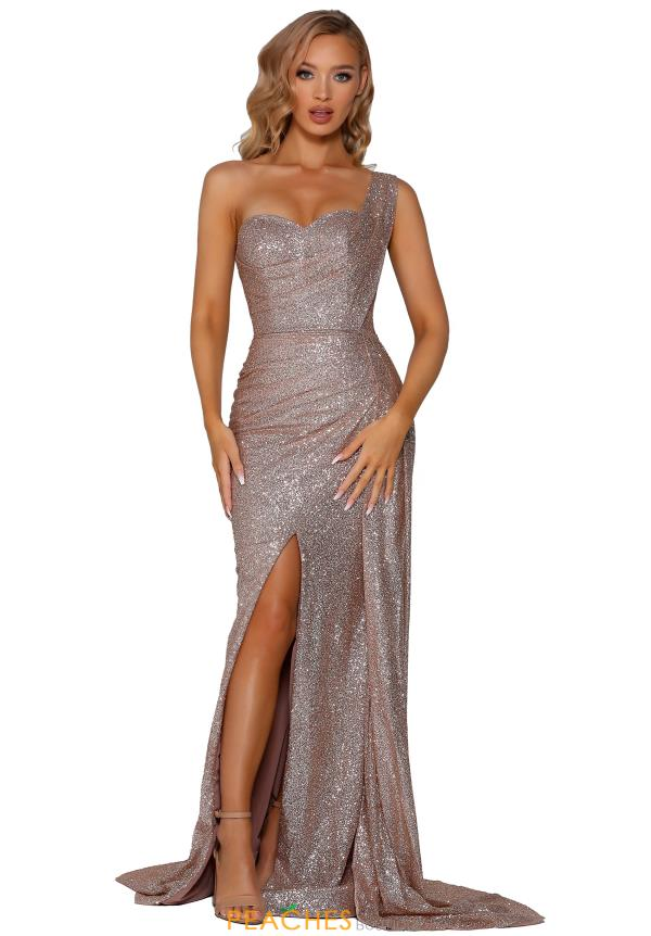 Portia and Scarlett Long Glittery Prom Dress PS6083
