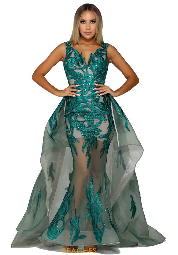 Portia and Scarlett Long Over Skirt Prom Dress PS6091