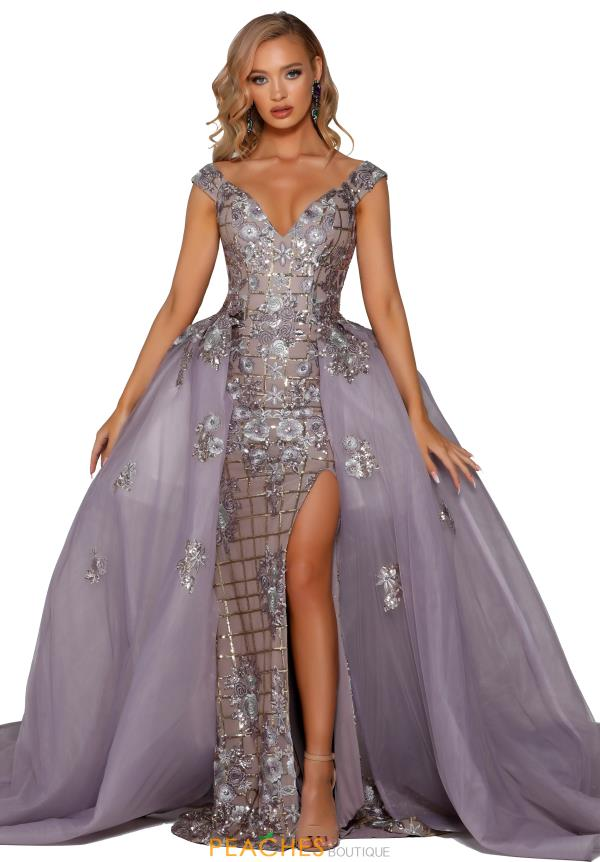 Portia and Scarlett Off the Shoulder Beaded Prom Dress PS6094