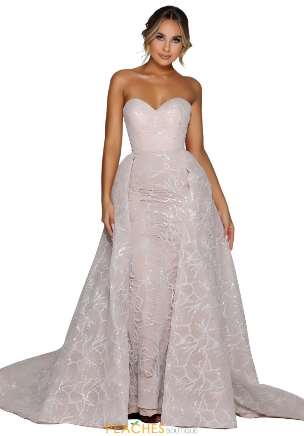 Portia and Scarlett Long Fitted Prom Dress PS6104
