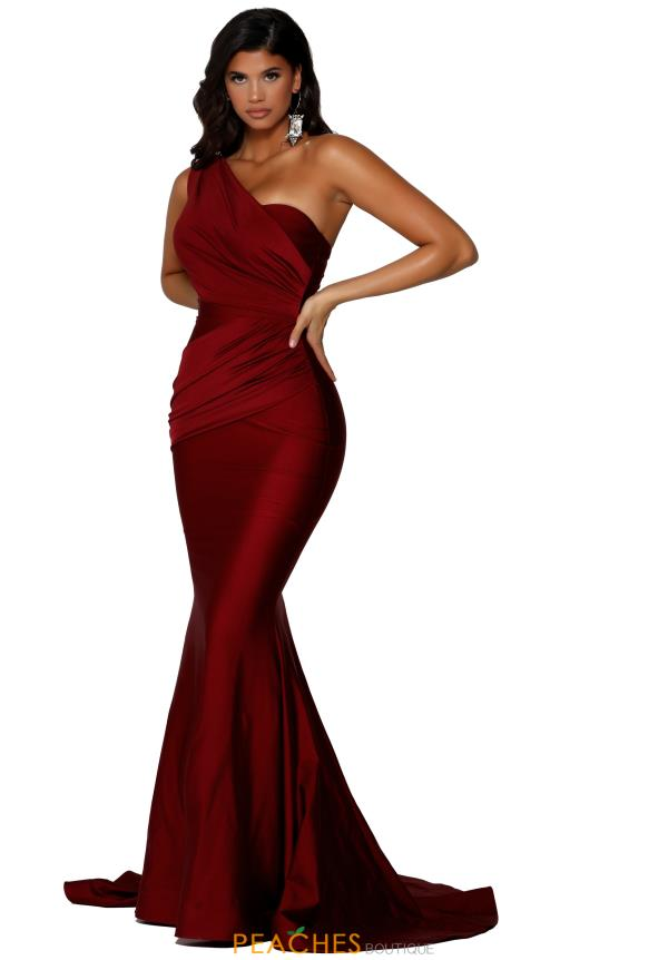 Portia and Scarlett Long Fitted Prom Dress PS6308