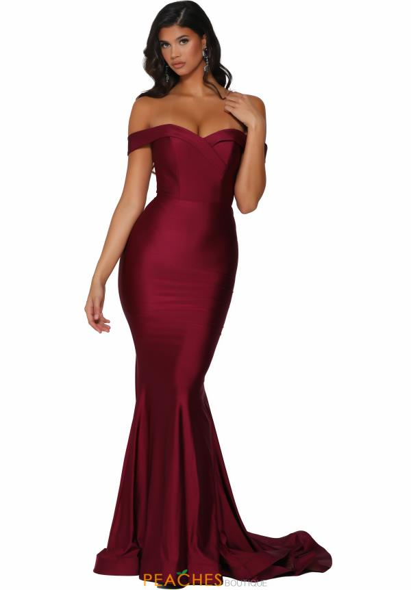 Portia and Scarlett Long Fitted Prom Dress PS6317