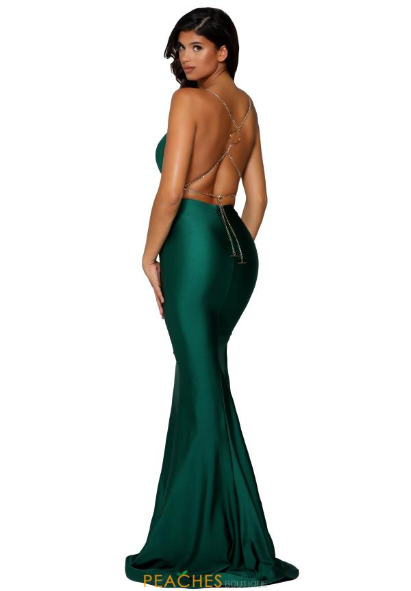 Portia and Scarlett Long Fitted Prom Dress PS6319