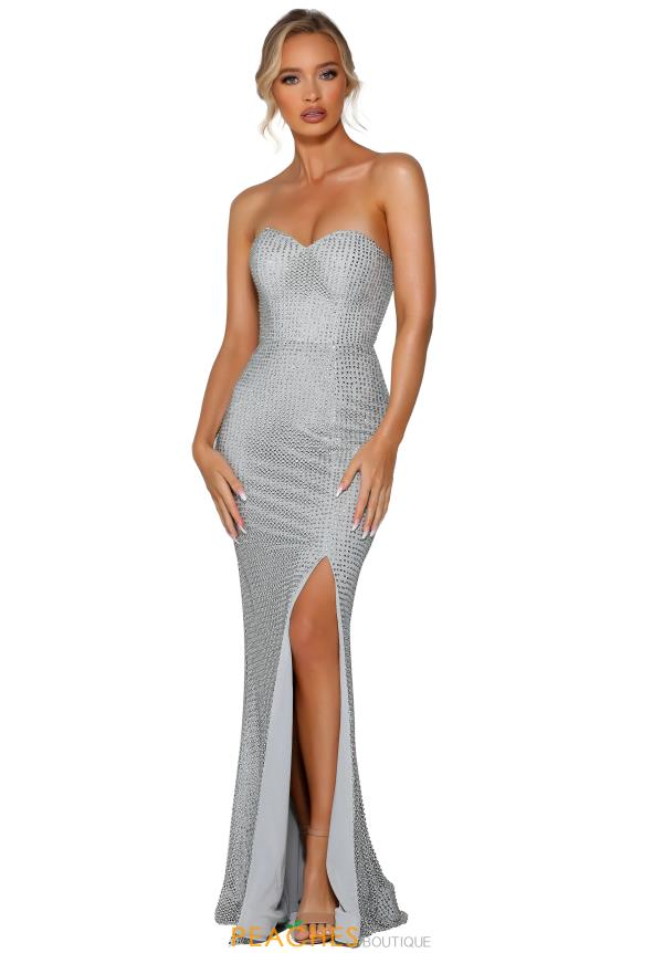 Portia and Scarlett Long Fitted Prom Dress PS6336