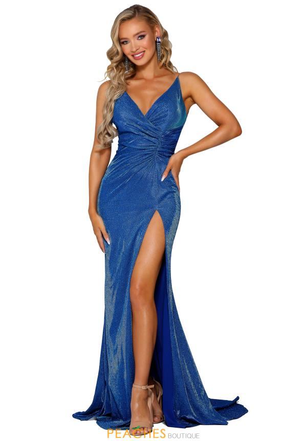 Portia and Scarlett Long Fitted Prom Dress PS6341