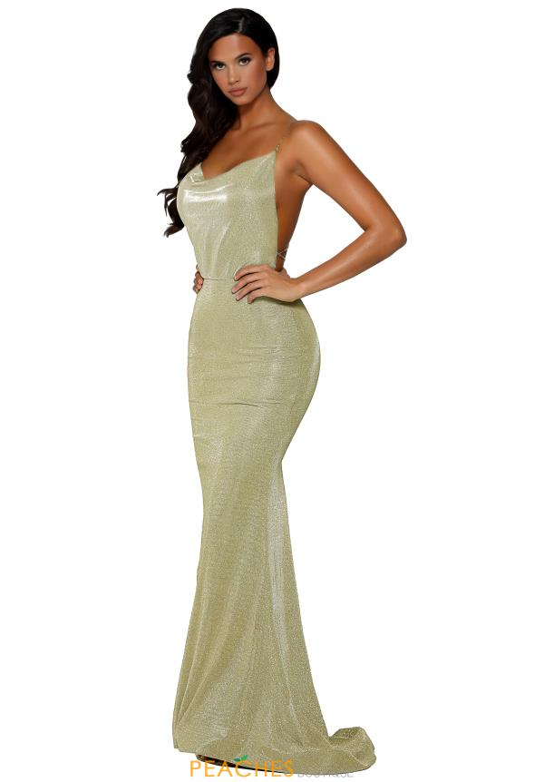Portia and Scarlett Long Fitted Prom Dress PS6343