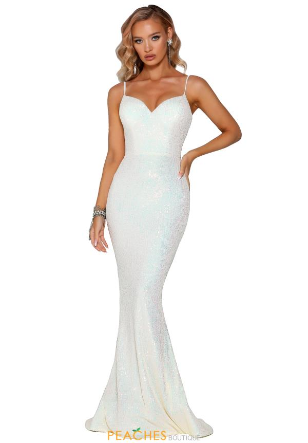 Portia and Scarlett Long Fitted Prom Dress PS6345