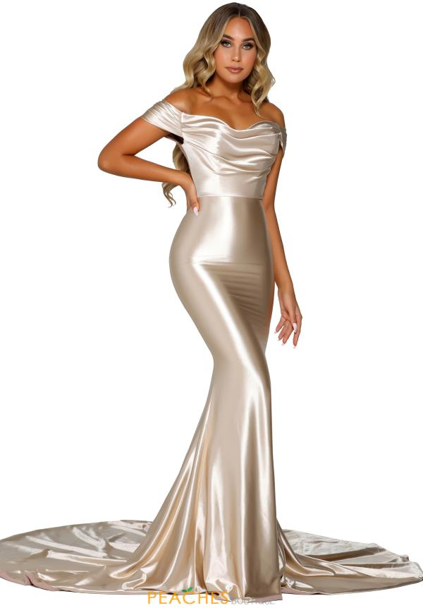 Portia and Scarlett Long Fitted Prom Dress PS6358