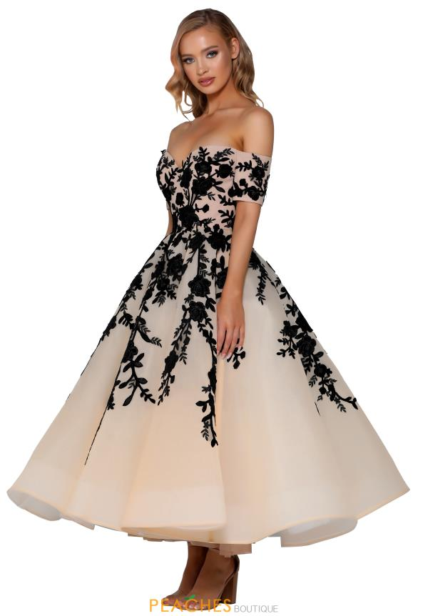 Portia and Scarlett Short Off The Shoulder Prom Dress PS6366