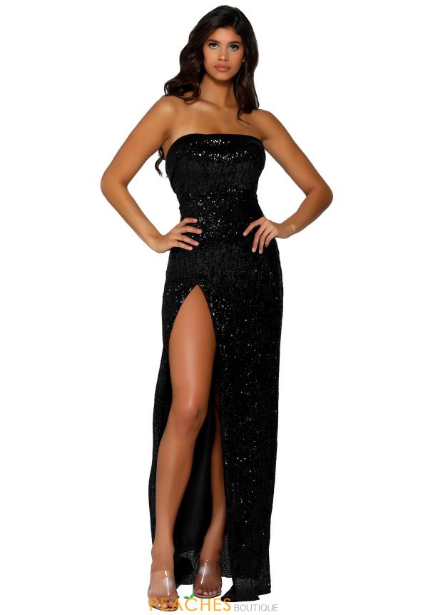 Portia and Scarlett Long Fully Beaded Prom Dress PS6372